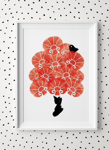 Kırmızı Karanfiller Poster-Fabl